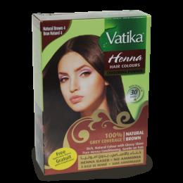 Индийская натуральная Хна для окраски волос Vatika Natural Brown