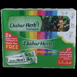 Зубная паста Dabur Herb'l Basil (базилик) + пенал в подарок